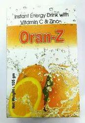 Orange Oran-Z ( Energy drink powder with vitamin c), Packaging Size: 105 Gm