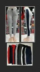 Cotton/linen Stretchable Ladies Jogger Pant , Cotton Rib , Women Trouser, Size: Xl 28 To 34