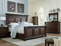 胡桃木黑柚木大床,现代设计,家居,尺寸:72