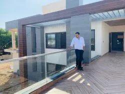 Panel Glass balcony Railing, For Home