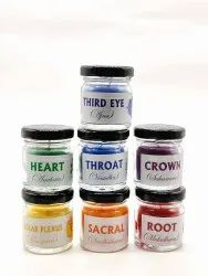 AuraDecor 7 Chakras Candles in a Jar