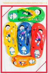 Hawaii Tiknos Kids Doraemon Rubber Hawai, Size: 5-10 And 11-3
