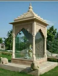 Pink Stone Dhollpur Marble Temple, Size: 6x6x9