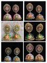 Radha Krishna Real Handprinted Kundan Tops