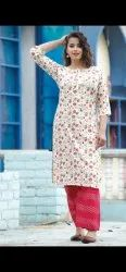 Latest printed rayon kurti with palazzo