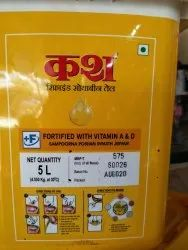Kash soyabeen oil 5litre, Packaging Type: Plastic Container