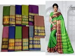 Pinky Factory Casual Wear Mayuri Designer Cotton Silk Saree, 6.3 m (with blouse piece)