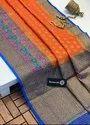 Check Banarasi Silk Sarees With Heavy Work Border