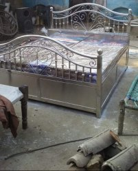 Sss jindal Silver Stainless Steel Beds, For Home, Double Bed