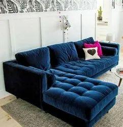 Urban Furniture Mild Steel L Shape Sofa, For Home, Living Room