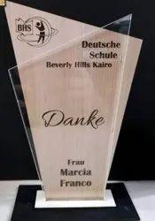 Wooden Acrylic Trophy
