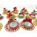 Cotton T Light Indian Handicrafts, For Decorative, 3-3.5 Inches