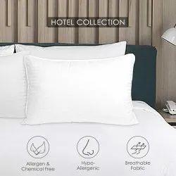 Iswarya亚麻白色ilavampanju枕头(丝绸棉),为旅馆和家庭,形状:矩形