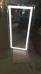 Pure White Glass Led light mirror