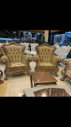 Brown As you wish. Wooden Sofa Set