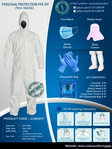 PPE Kit SIRTA Certified Fabric