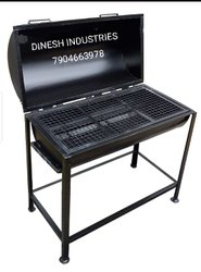 Commercial charcoal barbeque