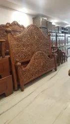 Teak Wood Design Carving Cot 1
