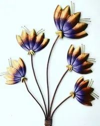 Multicolor Metal Indian Wrought Iron Flowers Bunch