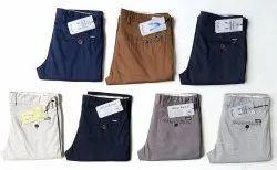 Multicolor Slim Fit Blue Bond Stain Printed Cotton Trousers