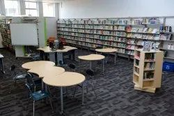 Library Interior Designing, Work Provided: Wood Work & Furniture