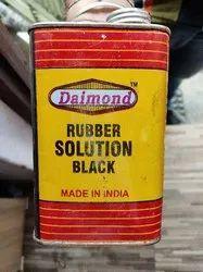 Daimond Rubber Solutions Black Half Litre