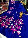Hand Embroidery On Handloom Sarees