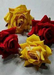 Rose Red Artificial Velvet Flowers
