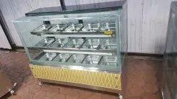 stainless steel Metal Namkeen Display Counter, For Commercial, Power Consumption: 300 Watt