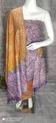 Khadi Cotton Batik Print Suit