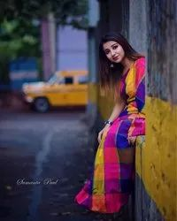 Multiple Check Handloom Sarees