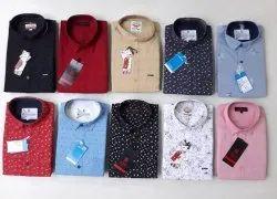 Mixed Fabrics Slim Fit Kites Cotton Shirt, Size: M.L.Xl