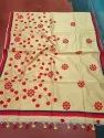 Handloom Applique Cotton Silk Sarees