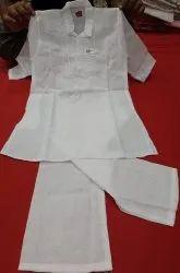 Cotton White Kids Ethnic Wear