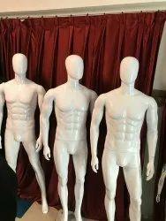 White 5.5 Feet Fiber Standing Male Mannequin, For Showroom, Foldable