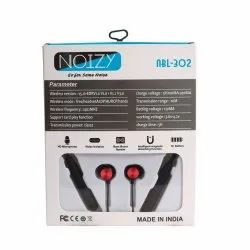 Mobile White Neckband Bluetooth Earphones, Model Name/Number: Noizy