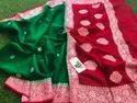 Handloom Banarasi Khadi Georgette Silk Sarees