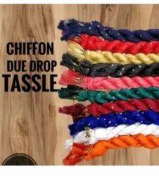 Plain Latkan lace Chiffon Dupatta, Packet