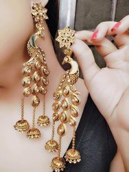 Golden Fancy Artificial Earrings
