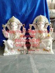 Ganesh White Marble Statue