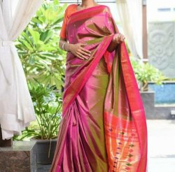 Yeola Paithani pure Silk