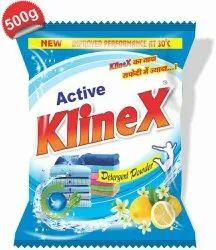 Lemon White Klinex Detergent Powder, For Laundry, Packaging Type: 500 Gm