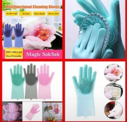 Multifunctional cleaning gloves