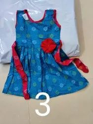 Cotton Regular Wear Girls Frock, Size: 24.0, Age Group: 0 To 8 Years