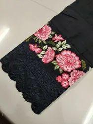 Cotton White Embroidery Pants, Waist Size: Free