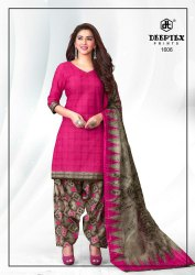 Cotton Unstitched Deeptex Pichkari Ladies Suit vol 16