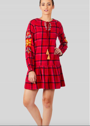 Checked dress, 70-80