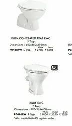 White Floor Mounted European Water Closet, For Bathroom Fitting