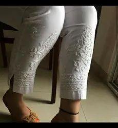 Cotton Lucknowi chaikankari handwork Ladies Pants