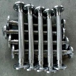 SS FLEXIBLE HOSE WITH FLANGE